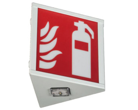 Combined safety sign luminaire / emergency luminaire