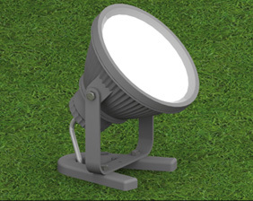 Reflector or floodlight for large spaces