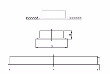 Recessed luminaires IP65 - inlay mounting 36-04, universal mounting 36-05