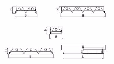 Recessed luminaires - universal mounting M625