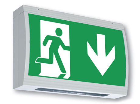 High protection class exit sign luminaire