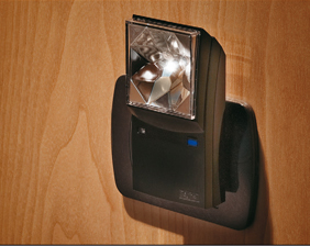 Household rechargeable anti black-out lamp with night light that turns on automatically at dusk