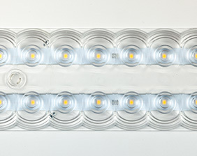 Lens Panel with multi-lenticular technology (8mm thick, with domotic control) becomes biodynamic light