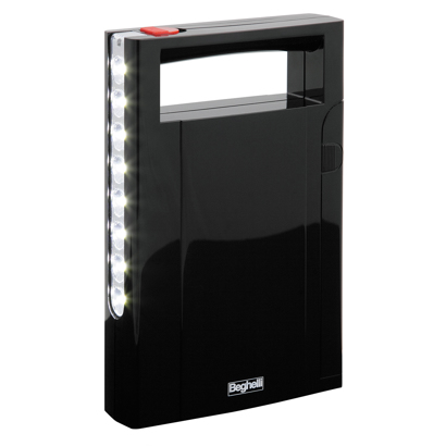 Rechargeable anti black-out LED lights with battery-charger function