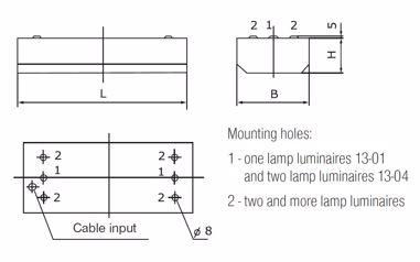 Ceiling and suspended luminaires - T5 lamps - separate
